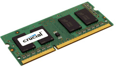 crucial 4GB Crucial DDR3 1333MHz SODIMM Laptop Memory   £16.99 Delivered