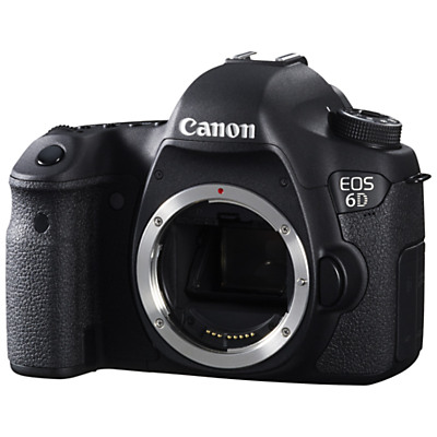 Canon EOS 6D Digital SLR Camera, HD 1080p, 20.2MP, GPS, 3″ LCD Screen,