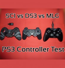 PlayStation 3 Controllers Compared – Dual Shock 3 vs MLG vs Gioteck SC1